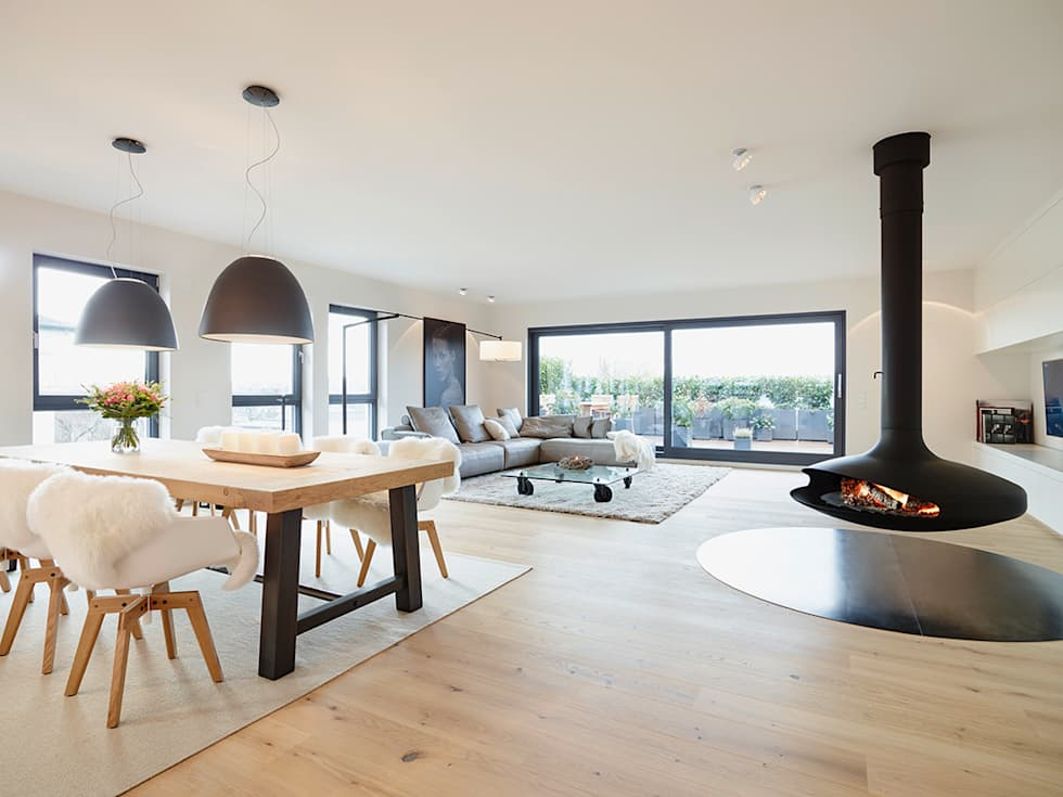 penthouse moderne wohnzimmer von honeyandspice. Black Bedroom Furniture Sets. Home Design Ideas