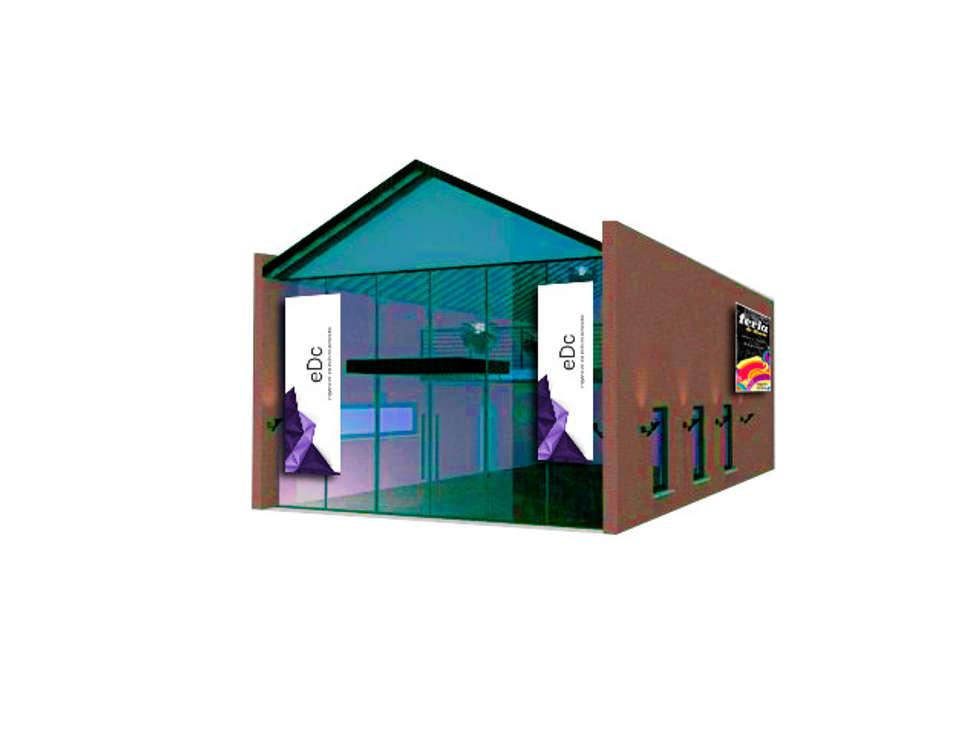 FACHADA PRINCIPAL: Salas multimedia de estilo industrial por CubiK