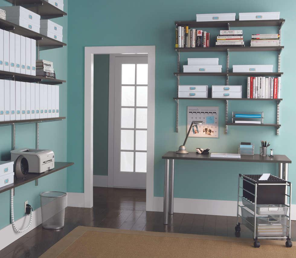 Wohnideen interior design einrichtungsideen bilder for Arbeitszimmer wandfarbe