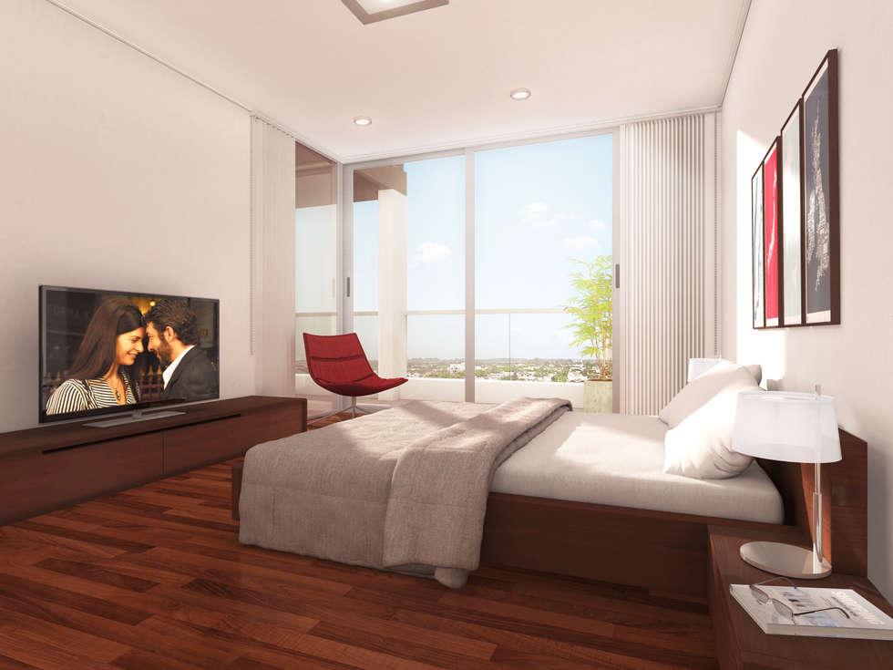 EDIFICIO BELGRANO CENTRO - Autores: Mauricio Morra Arq., Diego Figueroa Arq. y Arte de Dos: Dormitorios de estilo moderno por Mauricio Morra Arquitectos