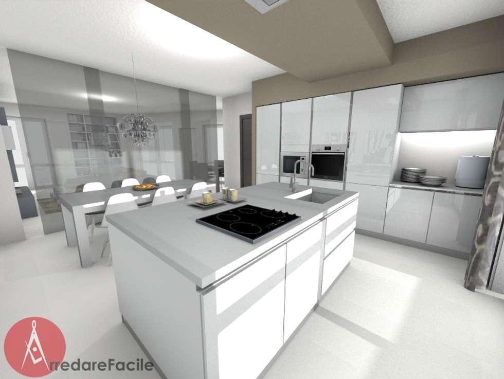 Idee arredamento casa interior design homify - Cucina moderna con isola ...