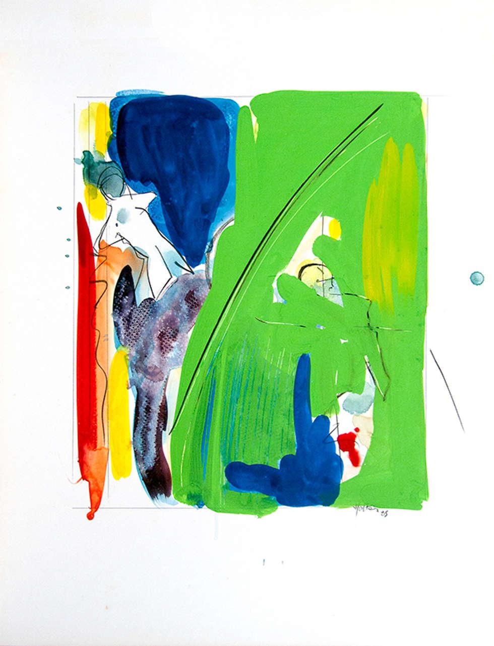 Bonhomme au vert: Salon de style de style Moderne par ahgraph