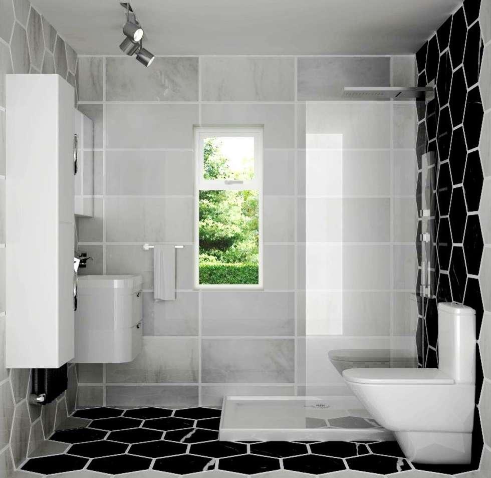 Bathroom interior design: modern Bathroom by Lena Lobiv Interior Design