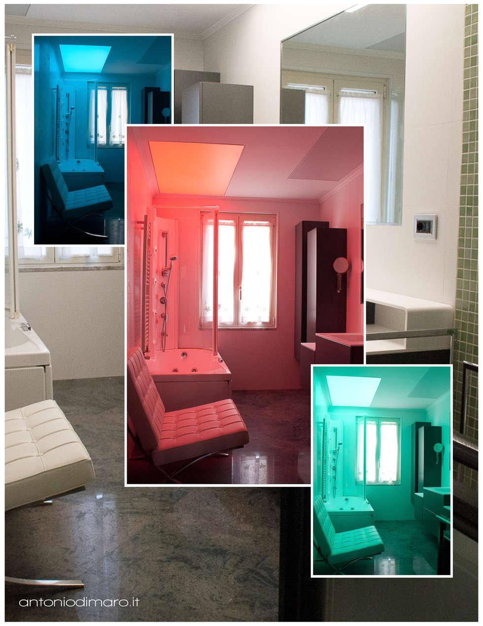 Effetti bagno cromoterapico: Bagno in stile in stile Minimalista di antoniodimaro&partners