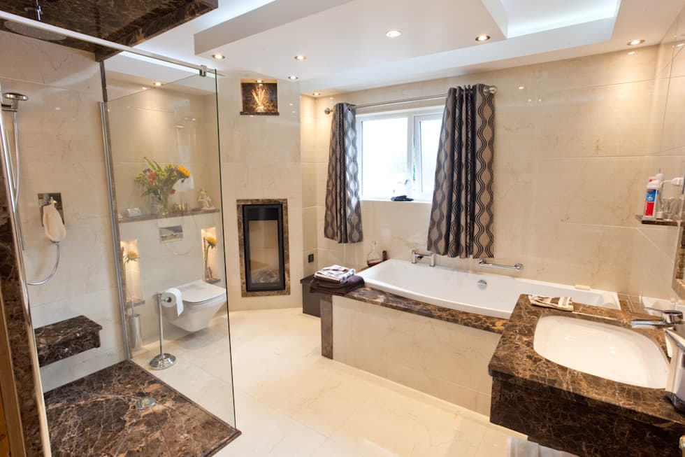 Luxury Marble Bathroom: classic Bathroom by Banbridge Bathroom Centre