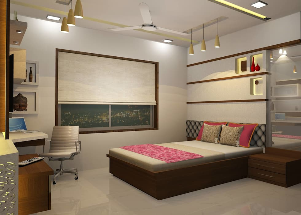 Bedroom designs: modern Bedroom by Optimystic Designs