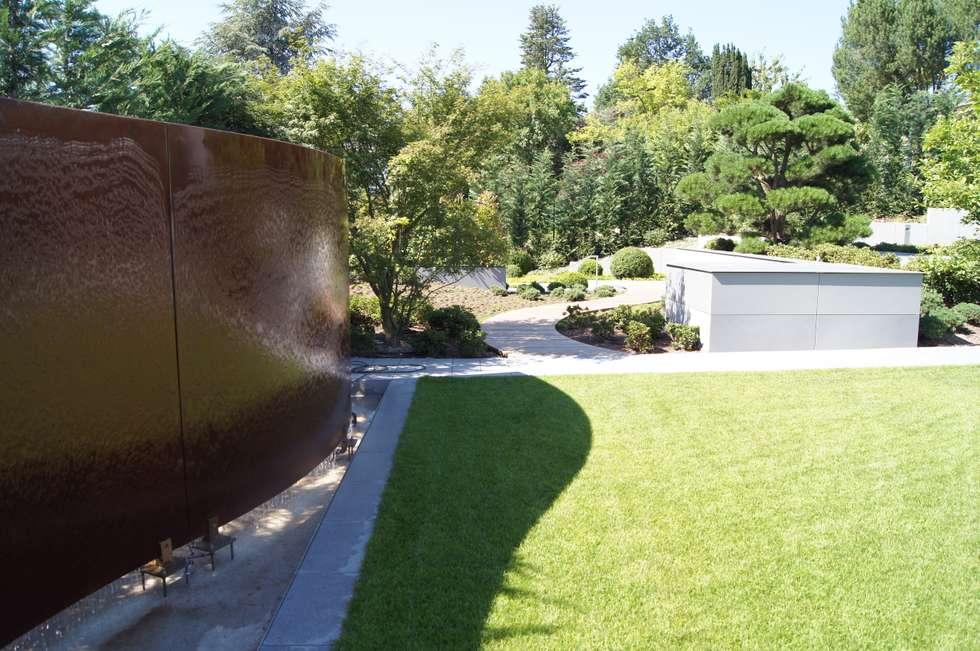 Cortenstahl Wasser Wand: Moderner Garten Von Dirlenbach   Garten Mit Stil