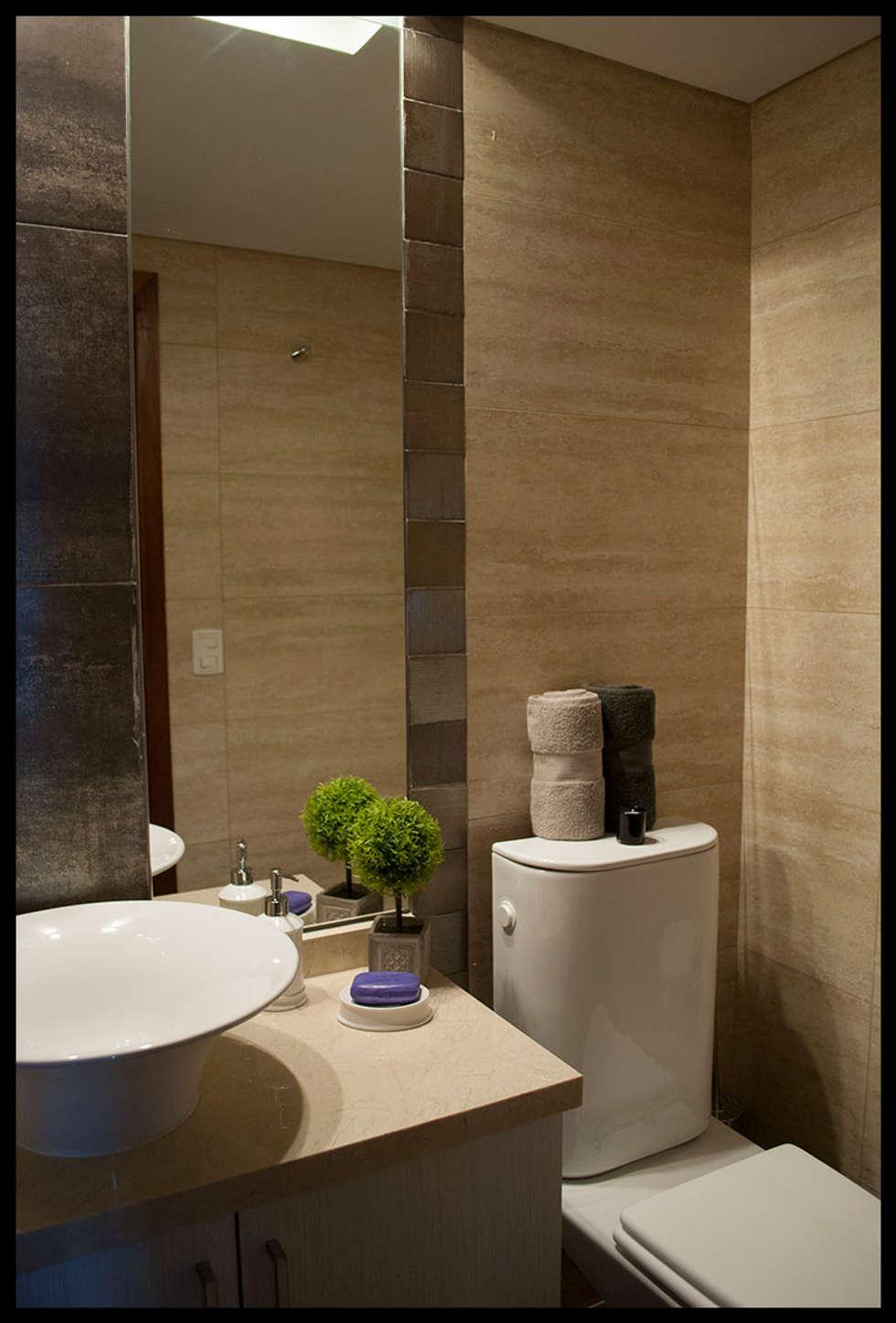 Pequeños detalles que hacen la diferencia: Baños de estilo moderno por Diseñadora Lucia Casanova