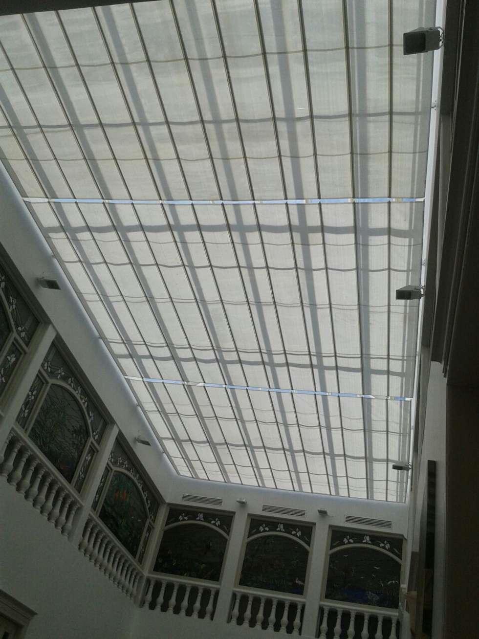 Palilleria ZEN cobertura DOMO sistema extendido: Centros Comerciales de estilo  por GAVIOTA MEXICO
