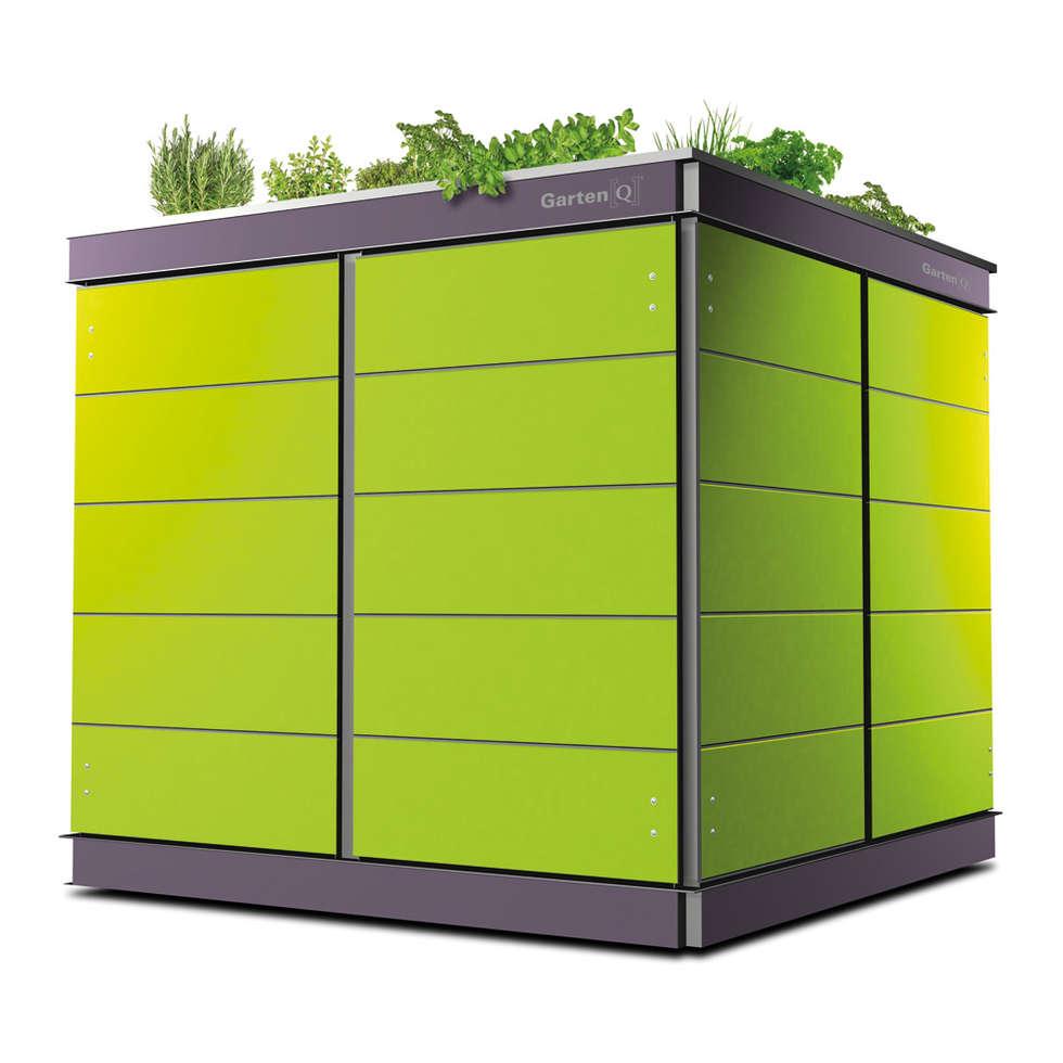 Moderne Garage/schuppen Bilder: Gartengeräte-haus Modern Mit ... Modernes Gartenhaus Fur Gartengerate