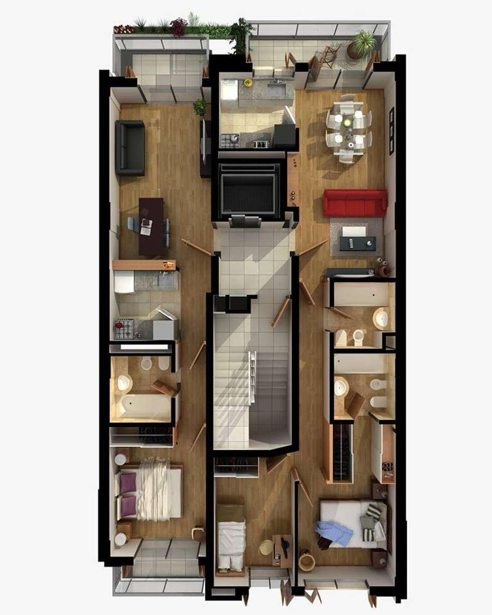 Planta Tipo: Edificios de Oficinas de estilo  por Estudio Feldman - Arquitectura Sustentable
