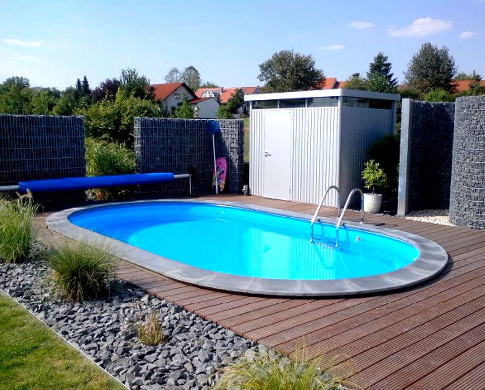 Foto s van een modern zwembad door homify homify for Modern zwembad