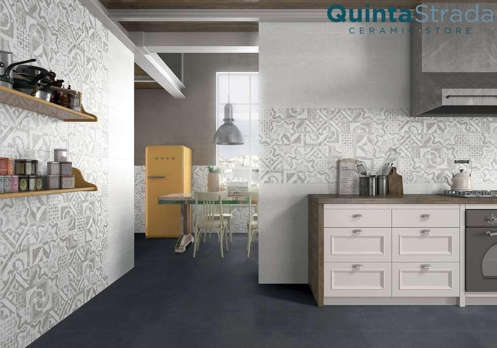 Collezione Drake: Cucina in stile in stile Moderno di Quinta Strada - Ceramic Store