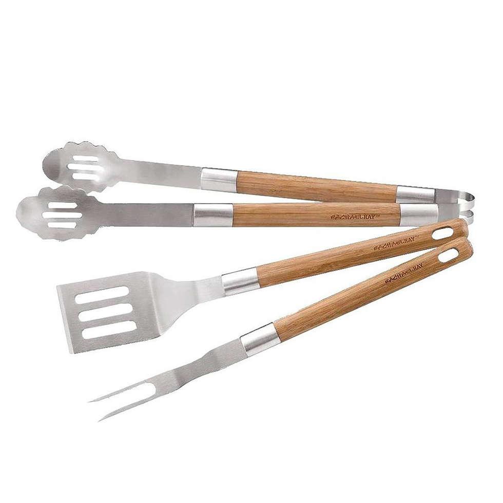 Set Barbecue Bambou 3 pièces: Cuisine de style de style Classique par IdéeCadeau.fr