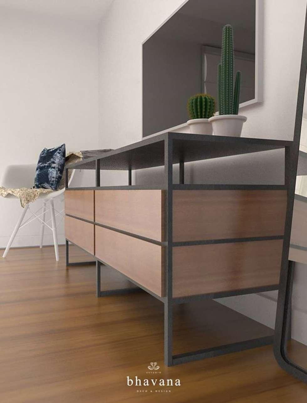 Habitación: Dormitorios de estilo industrial por Bhavana