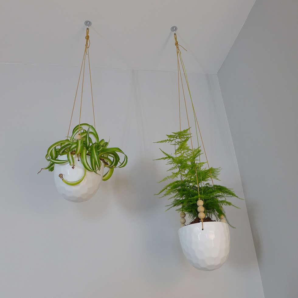 Des jardinières suspendues: Salon de style de style Moderne par Skéa Designer