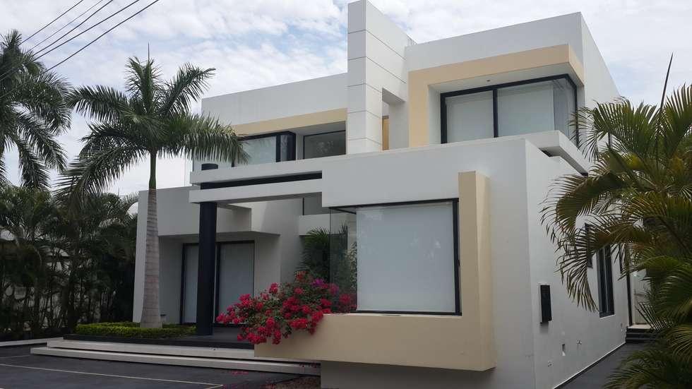 Perspectiva fachada principal casas de estilo moderno for Fachadas de casas estilo moderno
