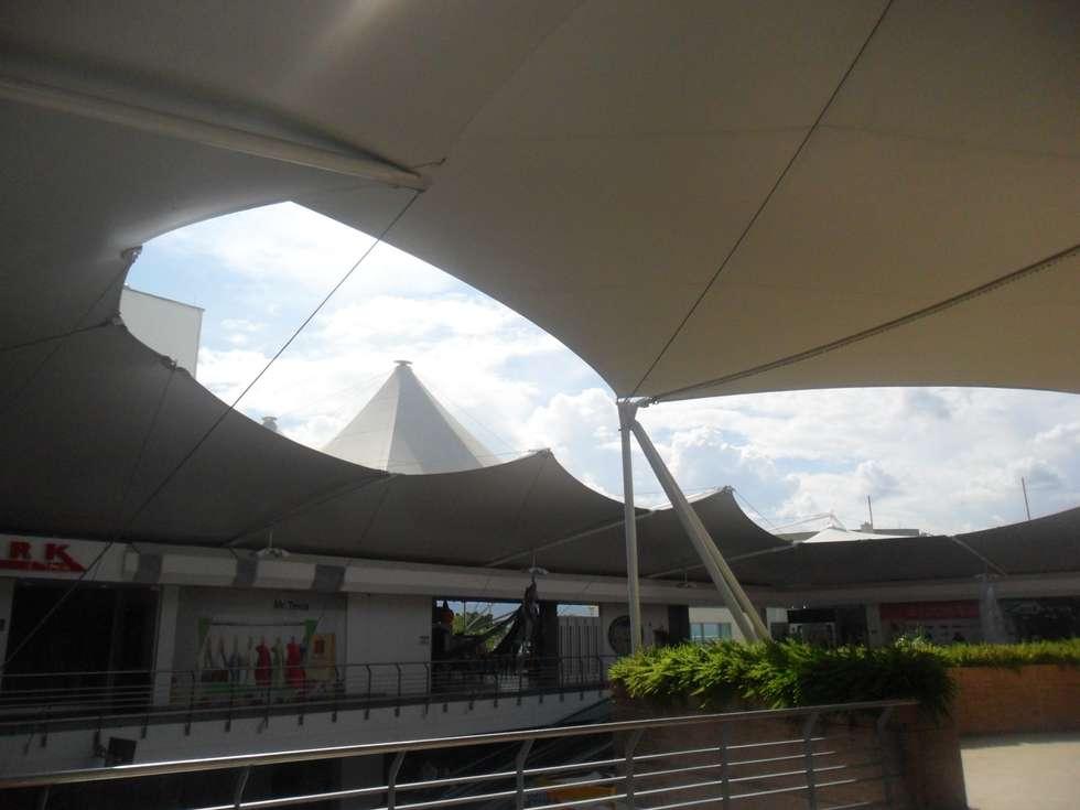 MEMBRANAS ARQUITECTONICAS: Centros comerciales de estilo  por arquitectura sostenible colombia