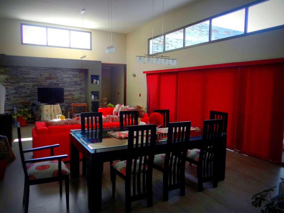 Estar-Comedor: Livings de estilo moderno por VYC Arquitectura