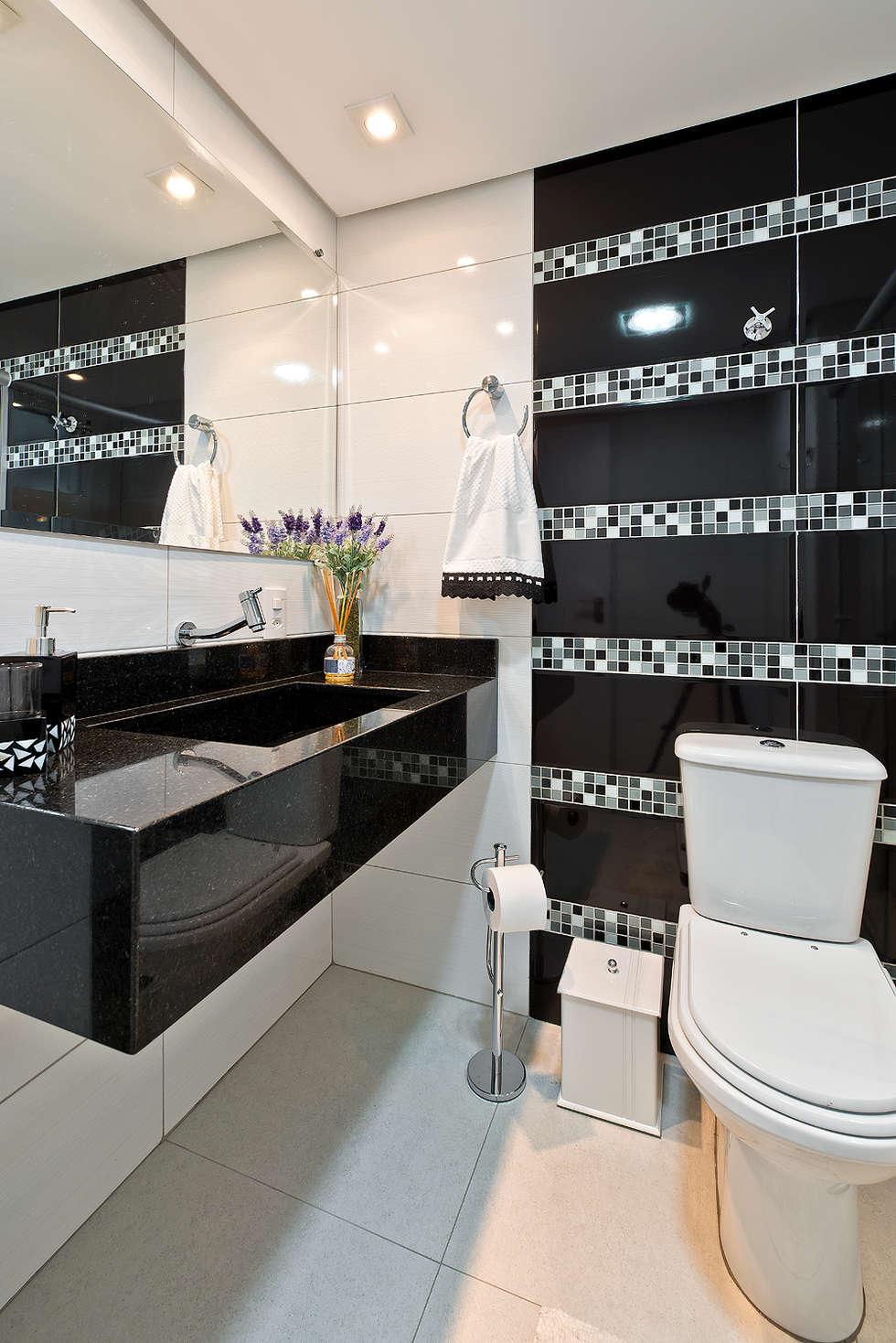 Banheiro: Banheiros modernos por Patricia Vertuan