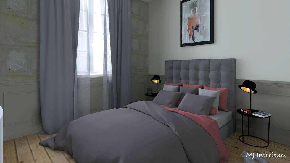 Chambre dans la petite pièce: Chambre de style de style Industriel par MJ Intérieurs