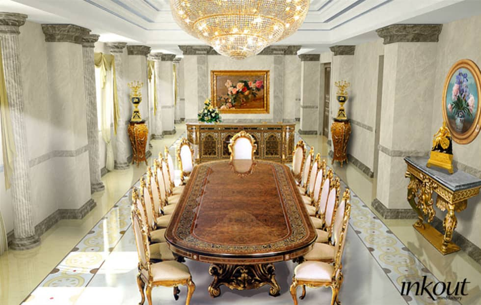 Dinning room: Sala da pranzo in stile in stile Classico di Inkout srl
