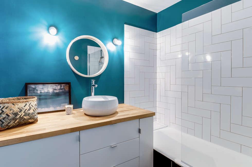 PROJET VOLTAIRE, Agence Transition Interior Design, Architectes: Carla Lopez et Margaux Meza: Salle de bains de style  par Transition Interior Design