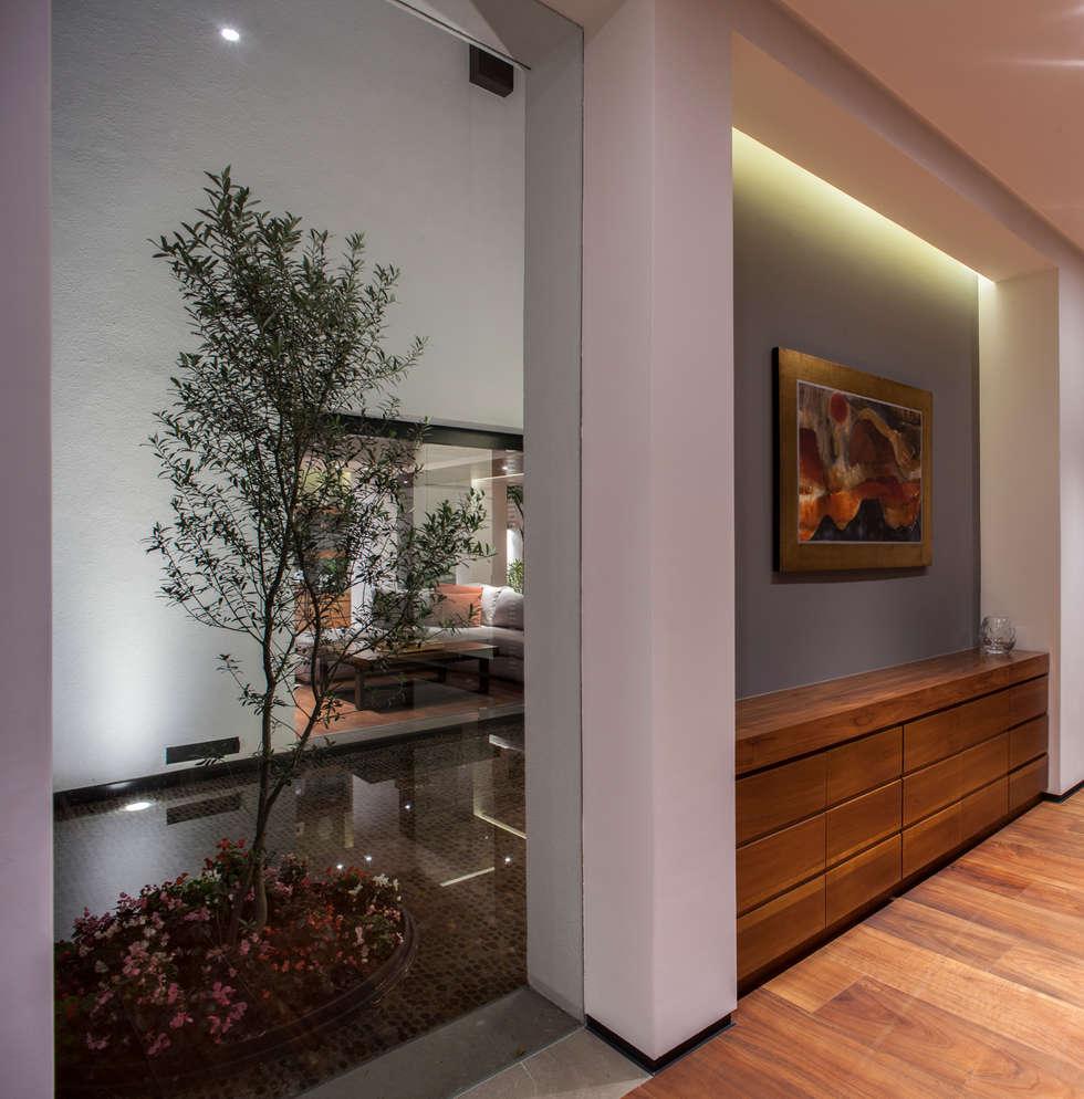 Casa de los 5 Patios: Terrazas de estilo  por Almazan y Arquitectos Asociados