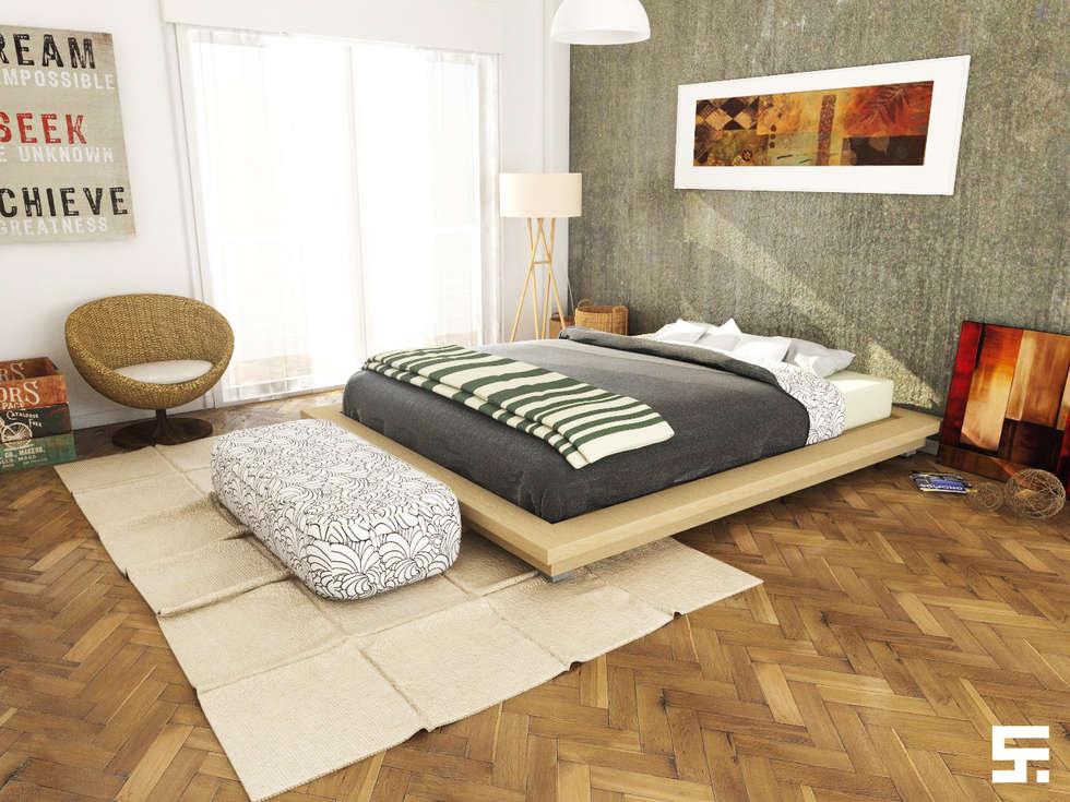 Varios: Dormitorios de estilo moderno por SF Render