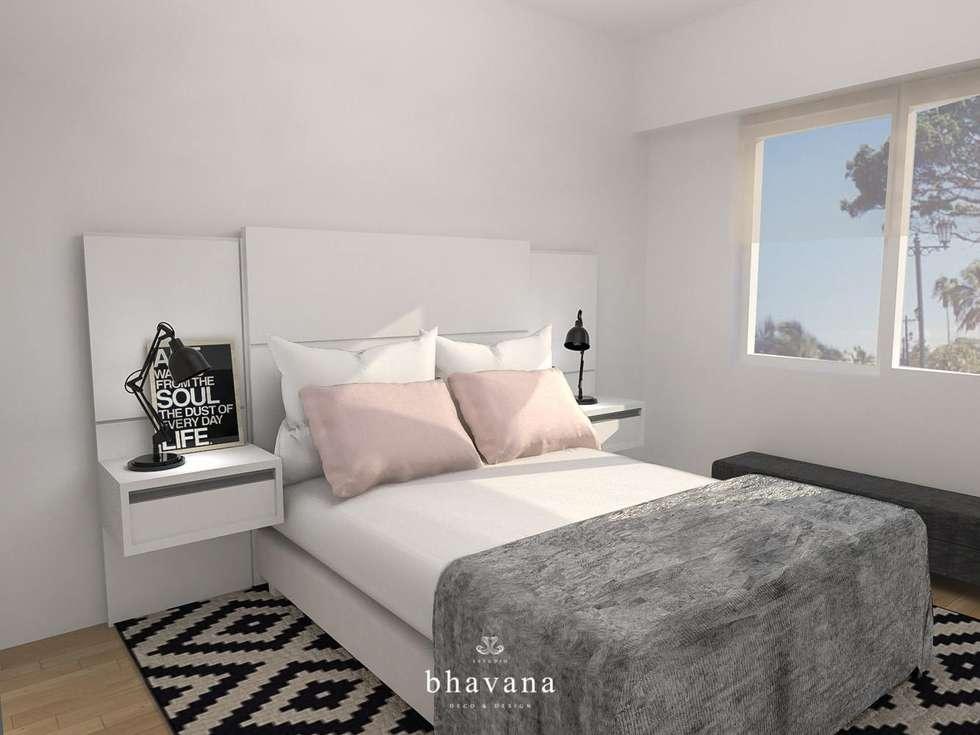 Habitación: Dormitorios de estilo escandinavo por Bhavana