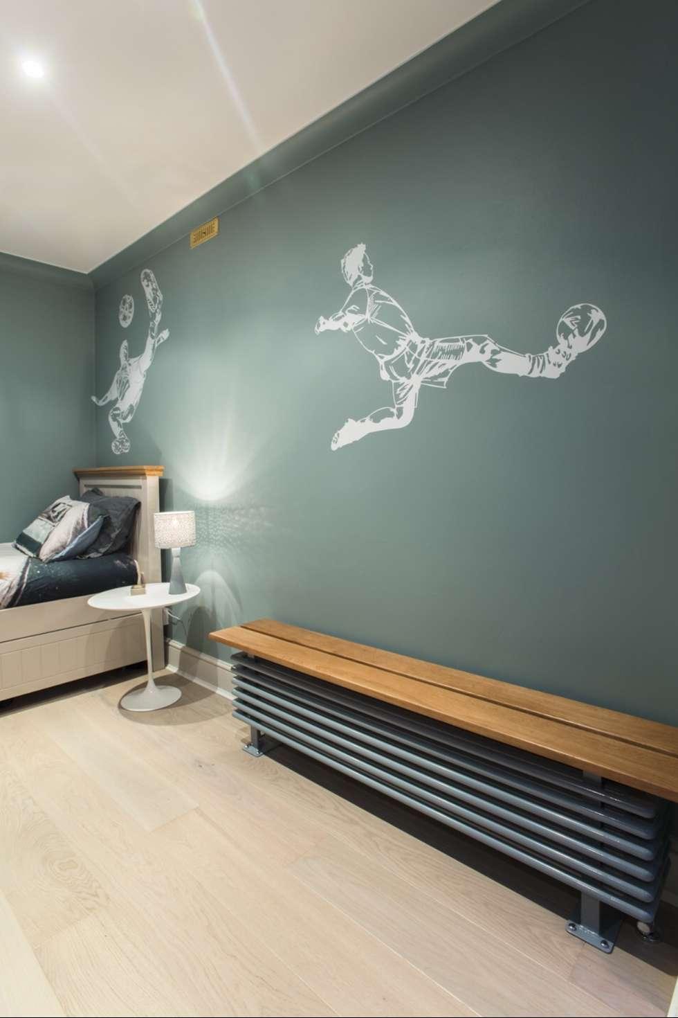 Bedroom painting in London NW3: modern Nursery/kid's room by Adrian Lesicki Decorating