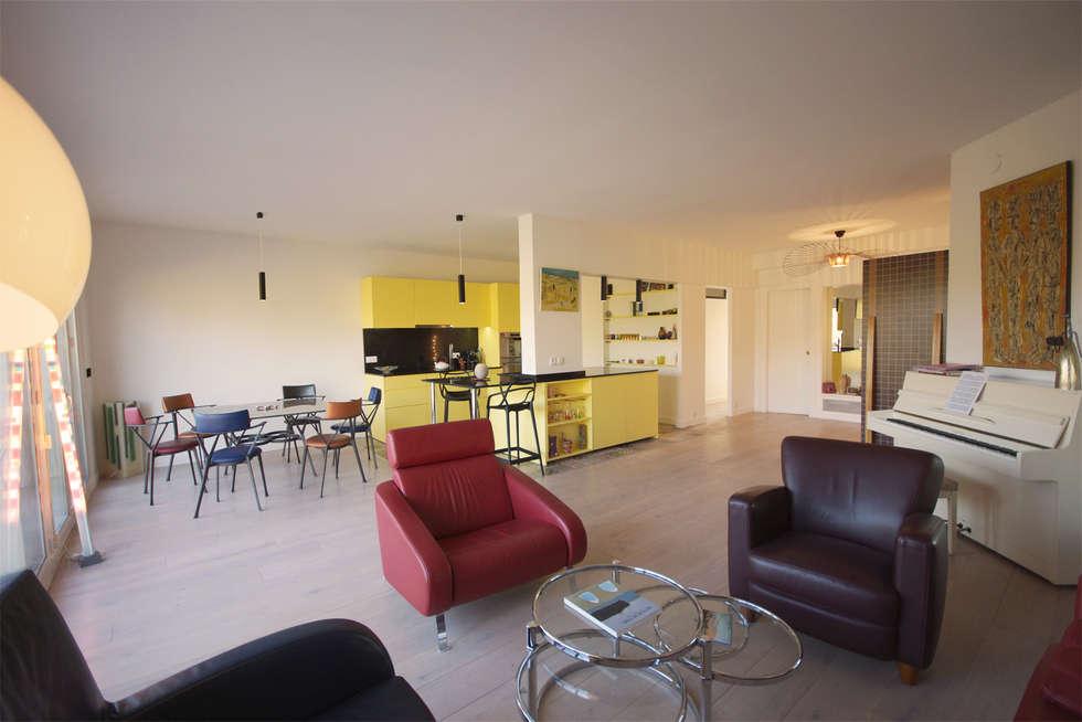 Décoration intérieure. Architecte Paris. Grazia architecture.: Salon de style de style Moderne par Grazia Architecture