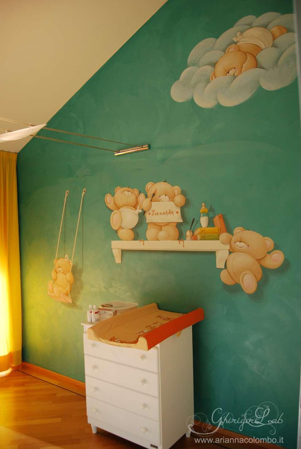Orsetti: Stanza dei bambini in stile in stile Moderno di Ghirigori Lab di Arianna Colombo