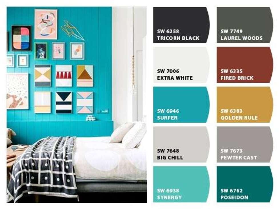 ideas de colores paredes y pisos de estilo moderno por pinturas vf ca