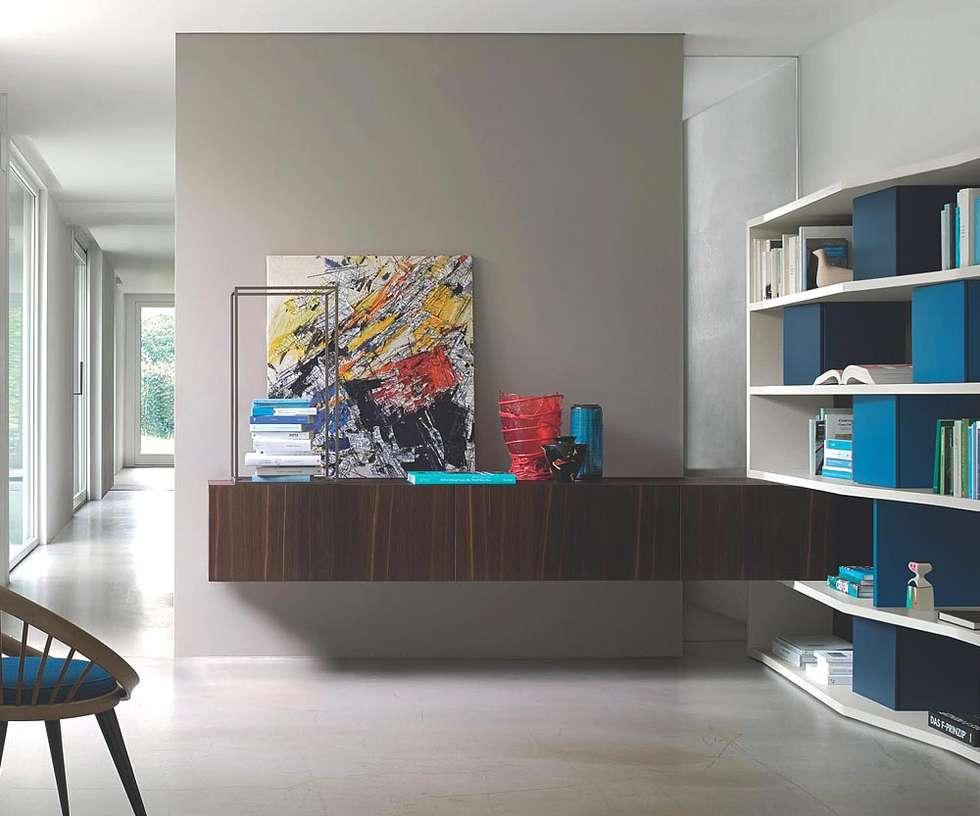 Liebenswert Holz Lowboard Foto Von Flaches Tv Aus Brauner Eiche Mit Bücherregal: