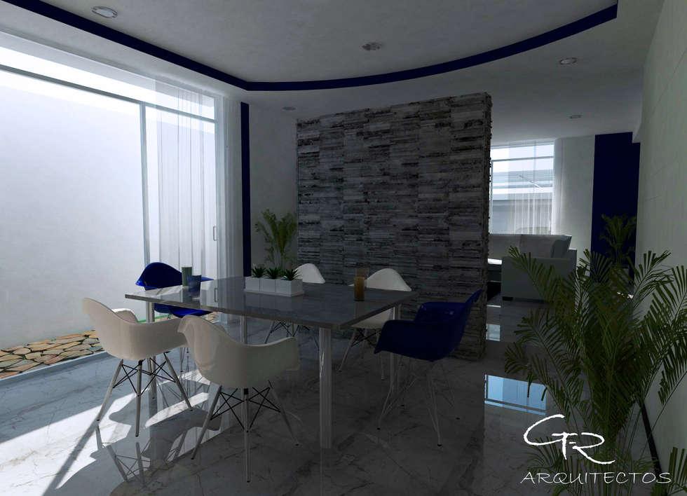 House Mundos Paralelos : Comedores de estilo moderno por GT-R Arquitectos