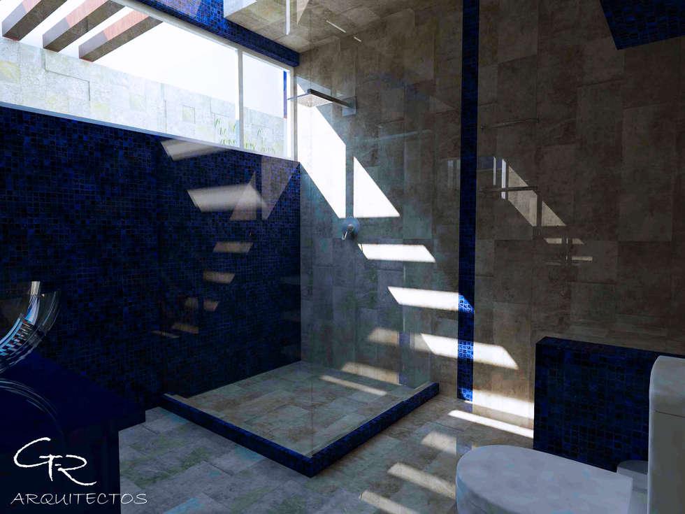 House Mundos Paralelos : Baños de estilo  por GT-R Arquitectos