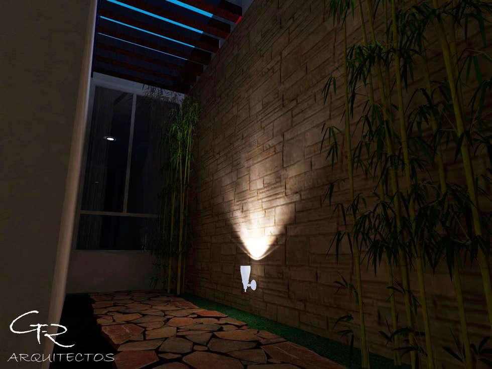 House Mundos Paralelos : Jardines de estilo moderno por GT-R Arquitectos
