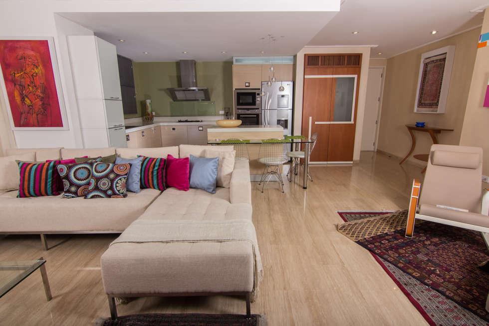 Apartamento b24 salas recibidores de estilo moderno por - Fotos de recibidores modernos ...