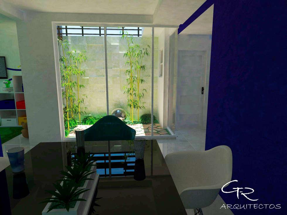 House Tempo: Comedores de estilo moderno por GT-R Arquitectos