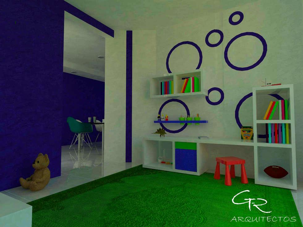 House Tempo: Salas de estilo moderno por GT-R Arquitectos