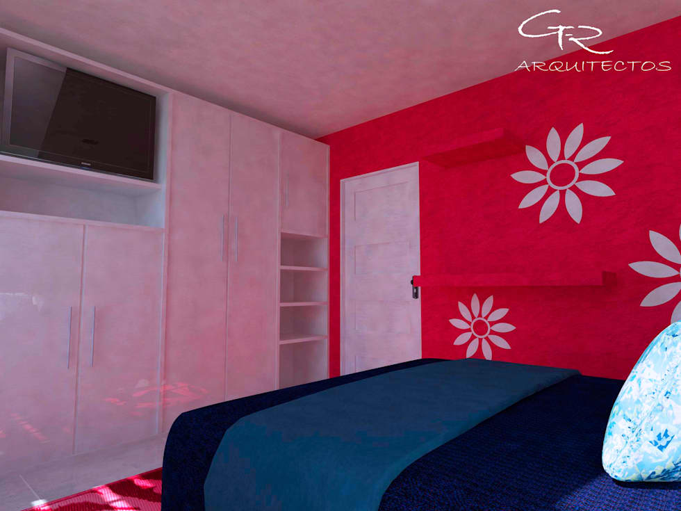 House Tempo: Recámaras de estilo moderno por GT-R Arquitectos