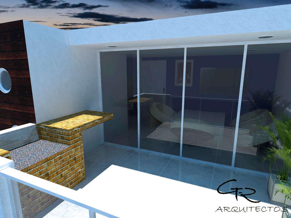 House Tempo: Terrazas de estilo  por GT-R Arquitectos