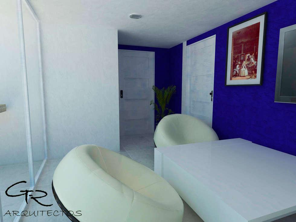 House Tempo: Salas multimedia de estilo moderno por GT-R Arquitectos