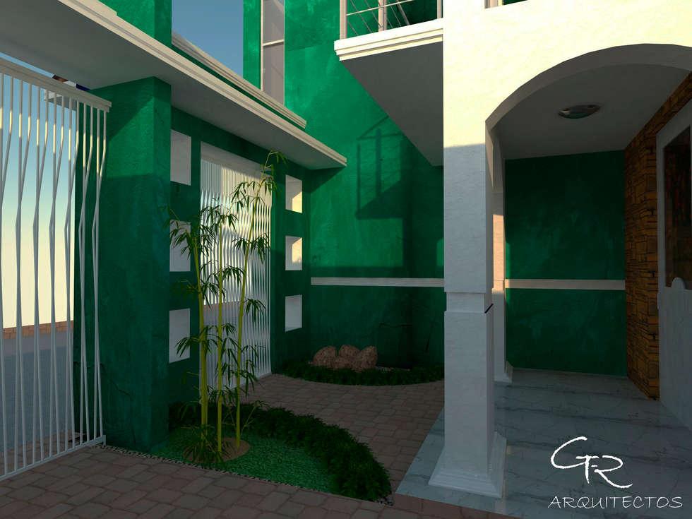 R-1: Jardines de estilo moderno por GT-R Arquitectos