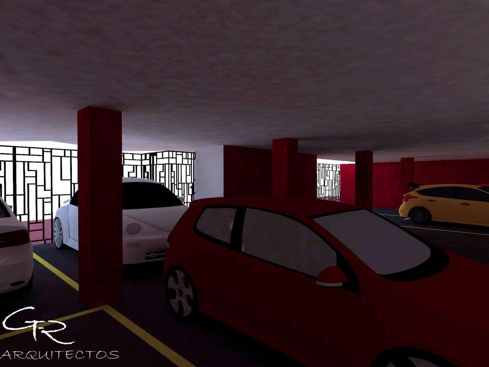 Loft Montecillo 05 : Garajes de estilo minimalista por GT-R Arquitectos