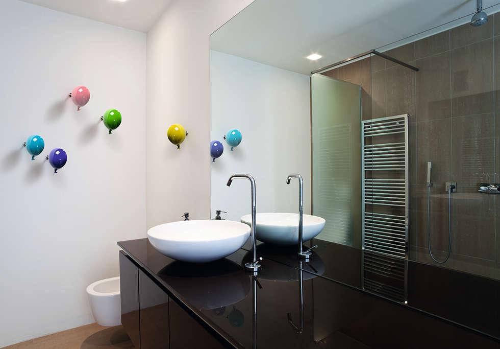 Gancio appendiabiti da parete mini balloon bagno in stile in