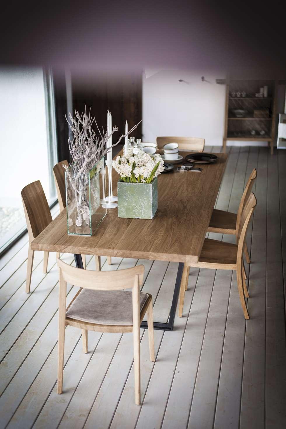 Easy design C.R.&S. Riva1920: Sala da pranzo in stile in stile Moderno di Riva1920