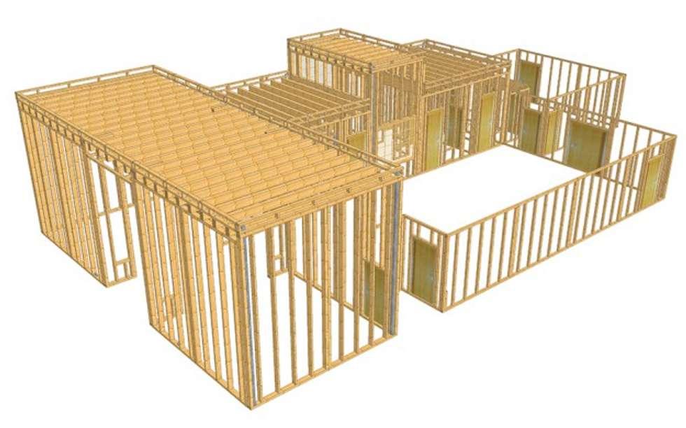 Modello SEMA progetto Padiglione Rep. del Sudan: Sedi per eventi in stile  di WoodLab