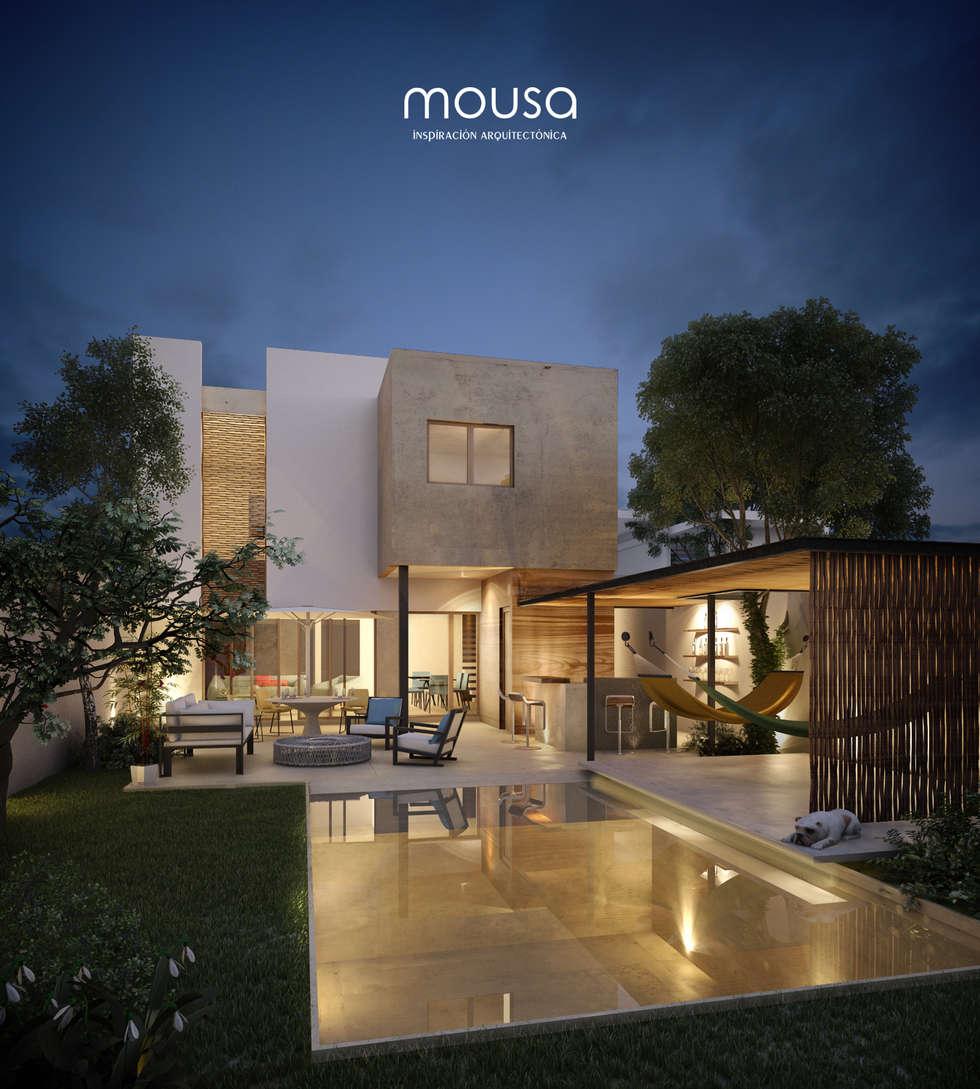 Casa Alor: Casas de estilo moderno por mousa / Inspiración Arquitectónica